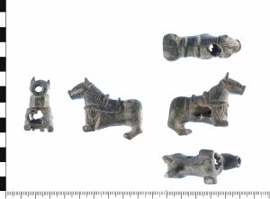 Medieval zoomorphic padlock depicting a harness pendant (PAS: WAW-565B1A) (Image courtesy of the Portable Antiquities Scheme)
